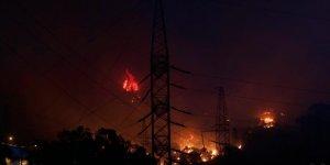 Orman yangını Kemerköy Termik Santrali'nin tel örgülerine kadar yaklaştı
