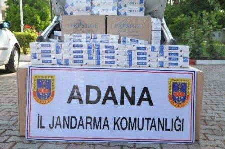 Adana'da 17 günde 124 bin paket kaçak sigara, 122 kilo uyuşturucu ele geçirdi