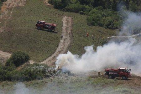Adana'da orman yangını tatbikatı gerçeğini aratmadı