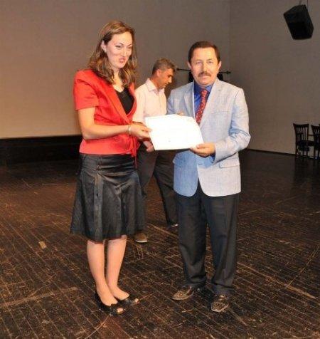 Afyon'da hasta bakım kursunu bitirenlere sertifika