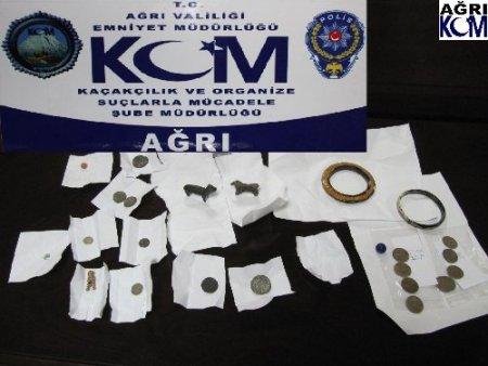 Ağrı'da tarihi eser kaçakçısı1 kişi yakalandı