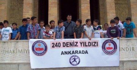 Aksaray'ın 'deniz yıldızları' yurt gezisine çıktı