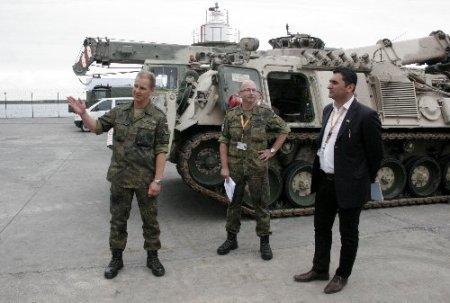Almanlar, Trabzon'daki loijstik aktarma noktasının kapılarını basına açtı