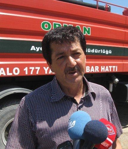 Aydın'daki yangında 300 hektarlık alan yandı