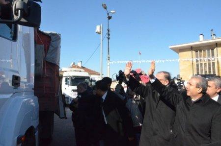 Bakan Eker, Suriyeler için üretilen unları Gaziantep'ten uğurladı