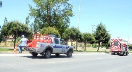 Balıkesir'de şehiriçi trafik çizgileri yenileniyor