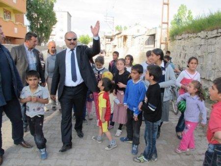 Başkan Arslan, okumaevi inşaatını inceledi
