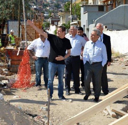 Başkan Kocaoğlu, şantiyelerdeki çalışmaları inceledi