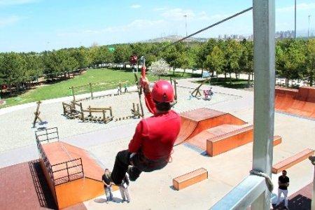 Başkent'in ortasında doğa sporları keyfi