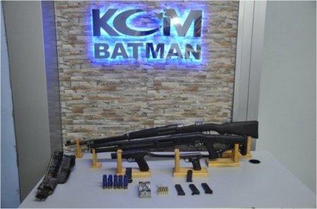 Batman'da kaçak silah ele geçirildi