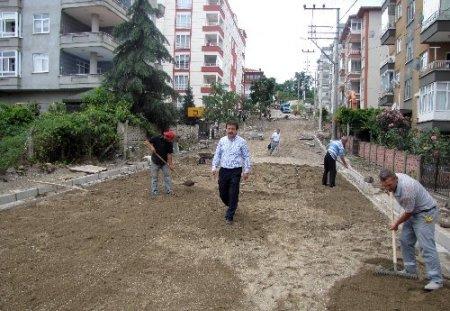 Belediye Başkanı Arpacıoğlu, çalışmaları yerinde inceledi