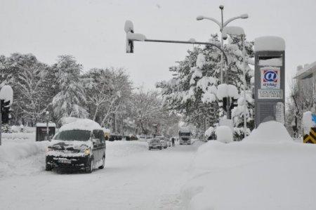 Bitlis'te kar yağışı 7 gün sonra durdu