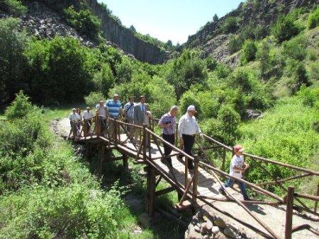 Boyabat bazalt kayalıkları turizme kazandırılıyor