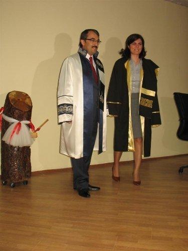 Bozok Üniversitesi'nden mezun olan ilk doktor için tören düzenlendi