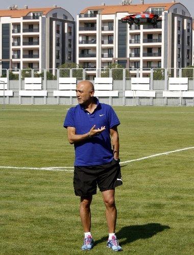 Bursaspor'un antrenmanlarını helikopter kamera çekecek