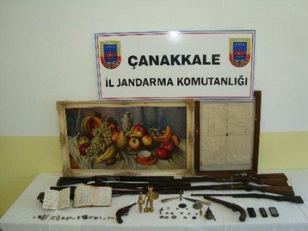 Çanakkale'de 53 adet tarihi eser ele geçirildi