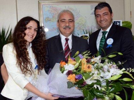 Çevre Günü'nde Muğla Valisi Güvençer'e ziyaret
