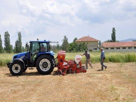 Çiftçi, kaba yem ihtiyacını toprak işlemesiz yöntemle karşılıyor