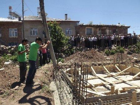 Dikilitaş Köyü Kur'an Kursu'nun temeli atıldı
