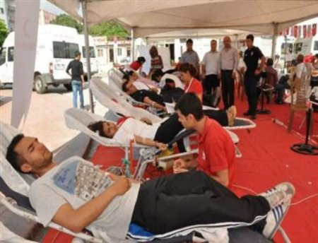 Dörtyol'da 390 ünite kan toplandı