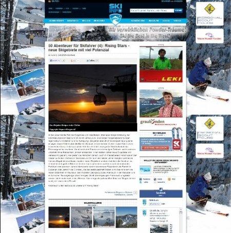 Erciyes kış turizm dergisine konu oldu