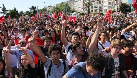 Ereğli'de Gezi Parkı protestosu