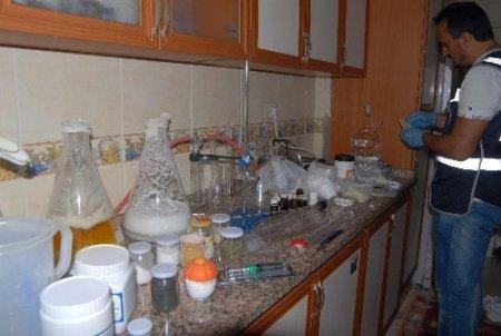 Ev değil, uyuşturucu fabrikası