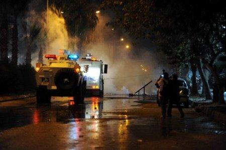 Eylemciler Mersin'i savaş alanına çevirdi