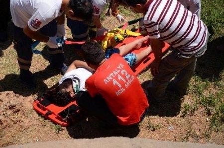 Falezden düşen çocuk hafif yaralı kurtuldu