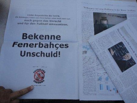 Fenerbahçelilerden UEFA'ya ilanlı uyarı