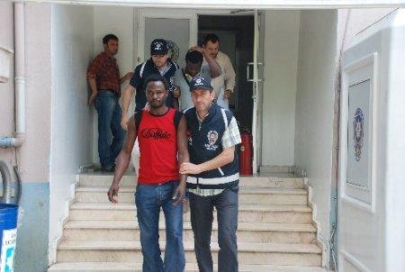 Film vaadiyle Kocaeli'ne getirilen 21 Nijeryalı gözaltına alındı