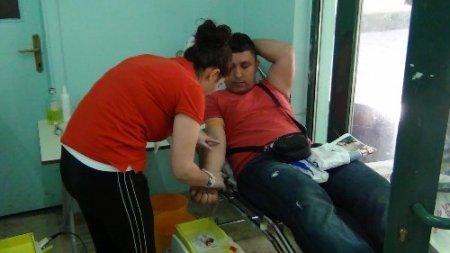 Gazilerden kan bağışı kampanyası