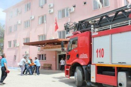 Gazipaşa Devlet Hastanesi'nde yangın tatbikatı