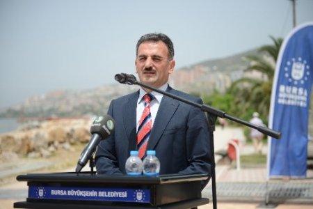 Gemlik'te taşkınlara karşı yaptırılan yağmur suyu terfi istasyonu açıldı