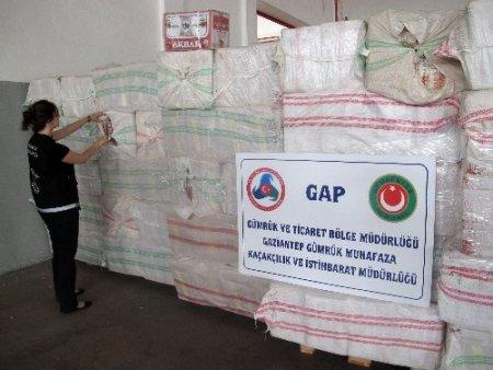 Gümrük operasyonunda 7 ton kaçak çay ele geçirildi