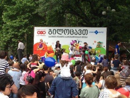 Gürcistan'da çocuk bayramı renkli etkinliklerle kutlandı