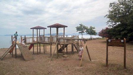 Güzelçamlı Milli Parkı'nda çocuk oyun alanı kuruldu