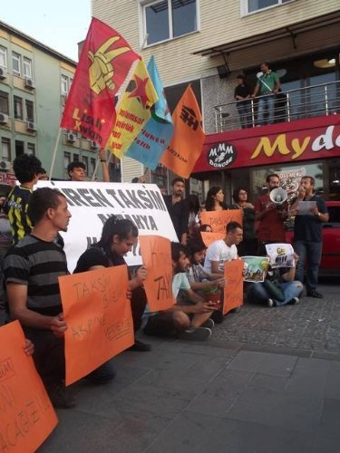 Hatay'da Gezi Parkı protestosu