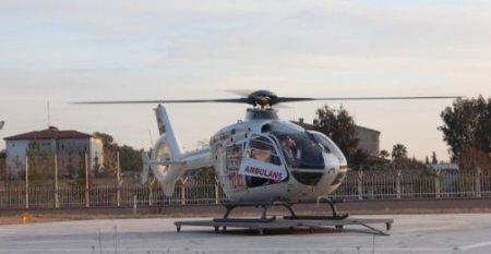 Helikopter ambulansla 582 acil hasta nakledildi