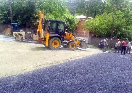Horzum Yaylası'nda asfaltlama çalışması başlatıldı
