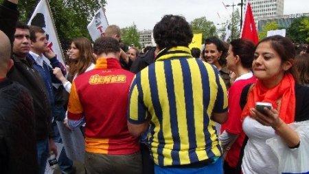 Hyde Park'ta Taksim protestosu