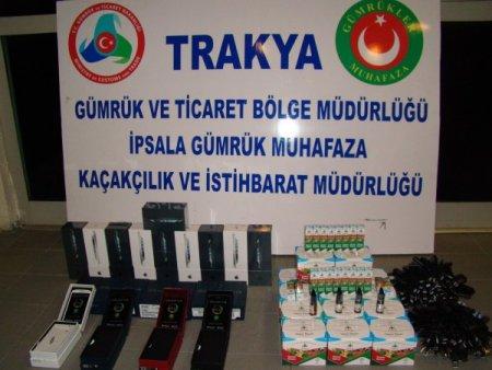 İpsala'da 70 bin TL değerinde kaçak cihaz ele geçirildi