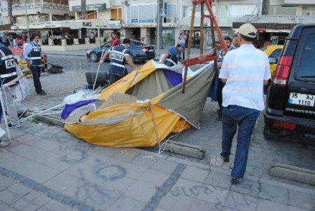 İzmir'de Gezi Parkı eylemcilerinin çadırlarına operasyon: 34 gözaltı