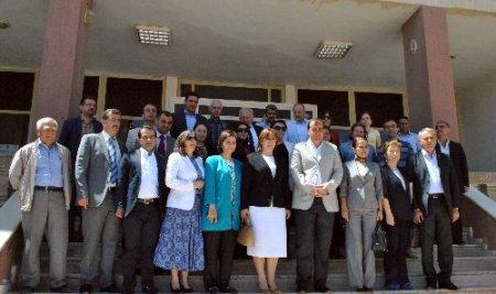 Kadın Erkek Fırsat Eşitliği Komisyonu üyeleri Midyat'ta