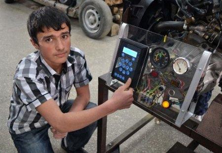 Kahramanmaraşlı lise öğrencileri otomobili parmak iziyle çalıştırmayı başardı