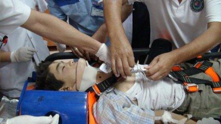 Ciddi bir yaralanma oluşmuş ciddi kan kaybı olmuş bir tansiyon