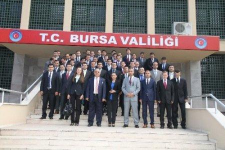 Kaymakam adaylarından Bursa Valiliği'ne ziyaret