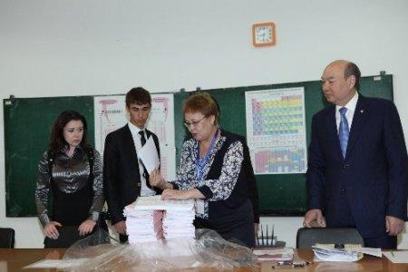 Kazak öğrenciler üniversiteye giriş heyecanı yaşadı