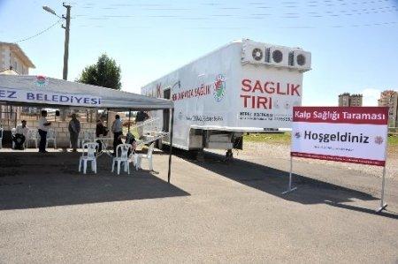 Kepez'de 3 bin kişiye kalp taraması yapıldı