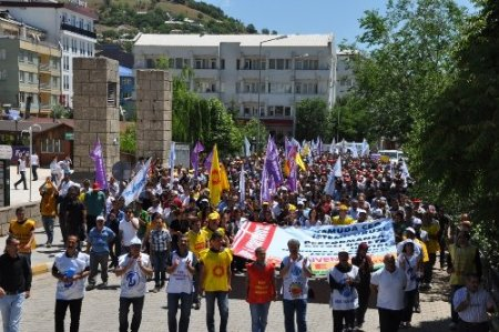 KESK Dersim Şubeler Platformu greve gitti